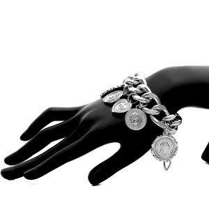 Engraving Coin Women Decor Bracelet
